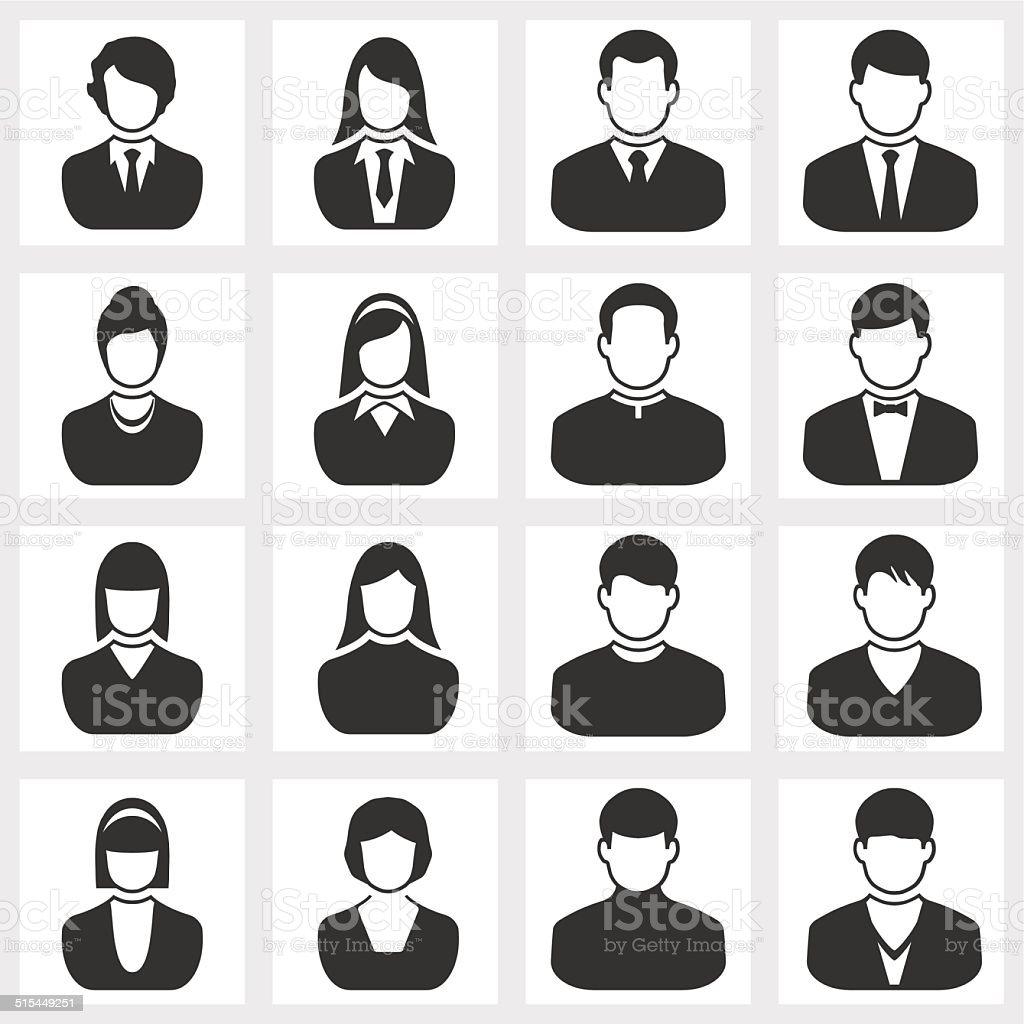 Users icon vector art illustration