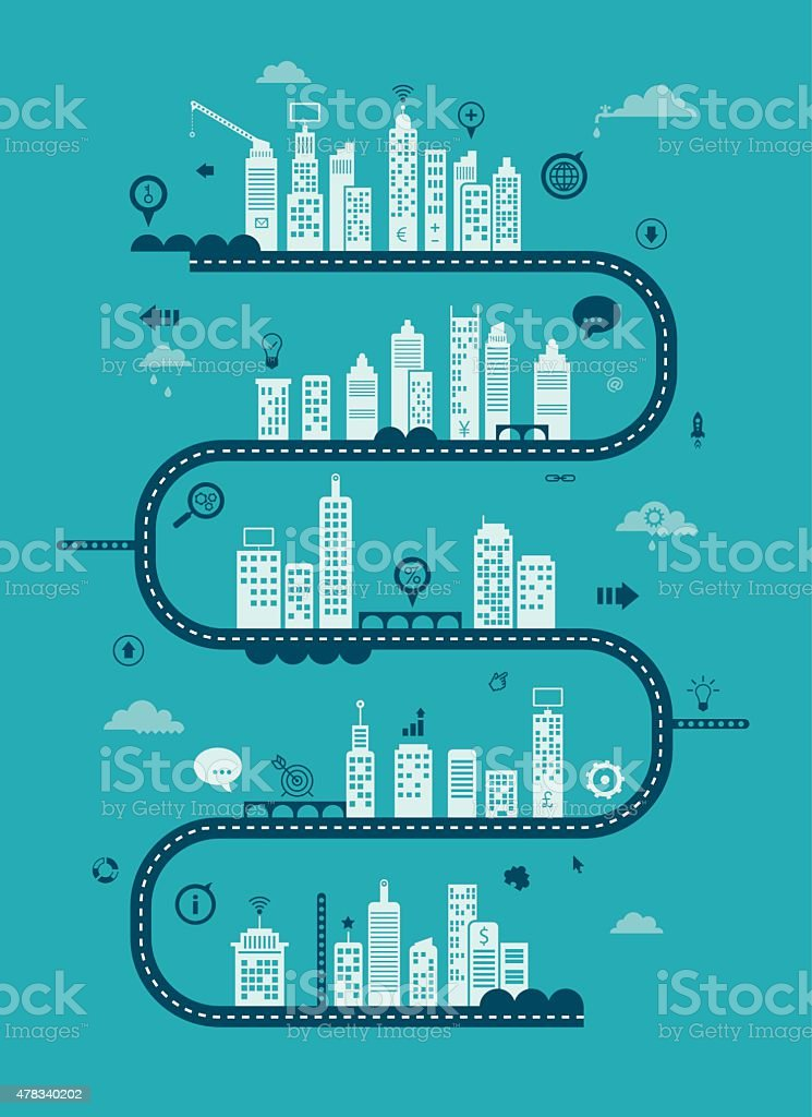Using Internet For Business vector art illustration