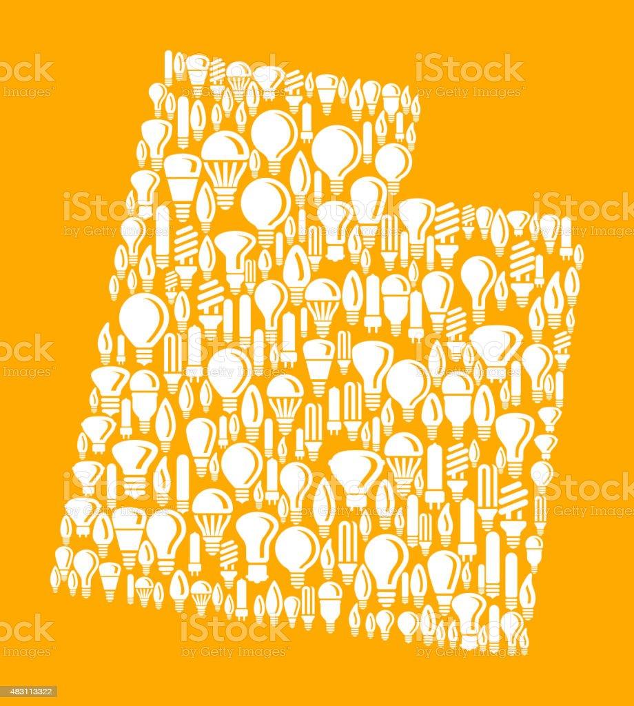 Utah State on Vector Lightbulb Pattern Background vector art illustration