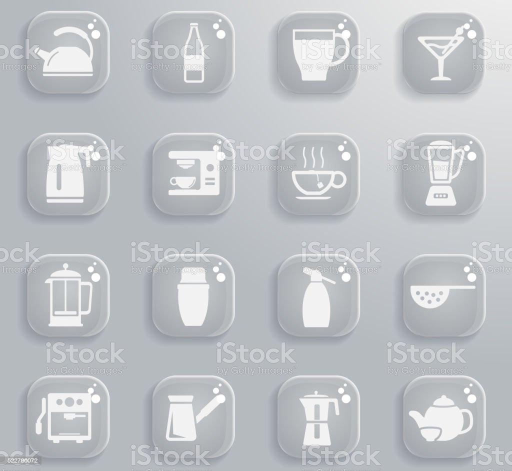 Utensils for the preparation of beverages vector art illustration