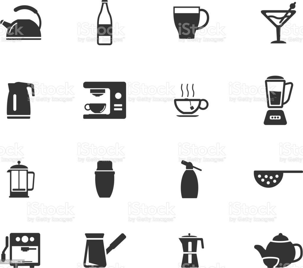 Einfach Symbole Küchenutensilien Vektor Illustration 507803028   iStock