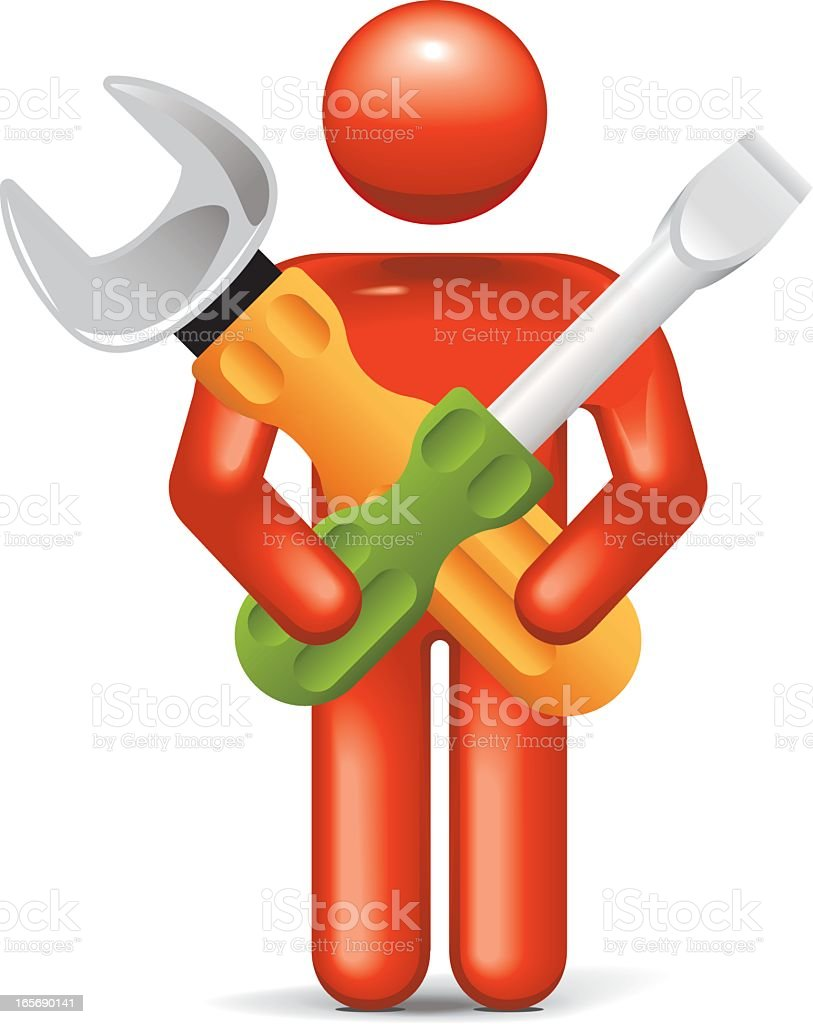 Utility Assistance: Stickman 2.0 royalty-free stock vector art