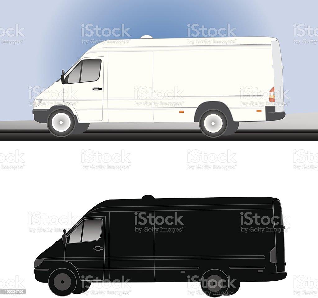 Utility van (vector) royalty-free stock vector art