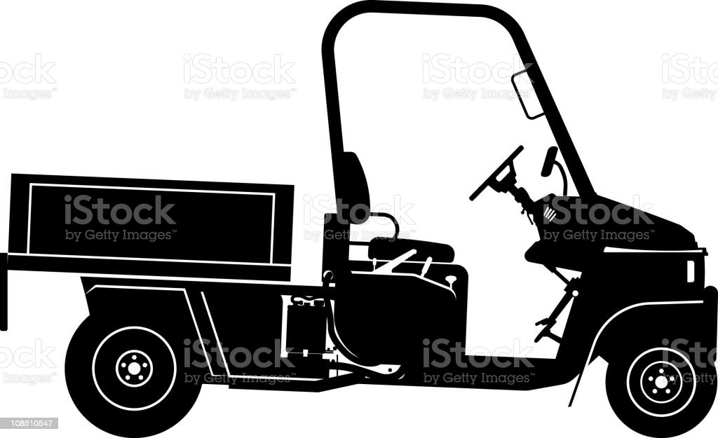 utility vehicle side view royalty-free stock vector art