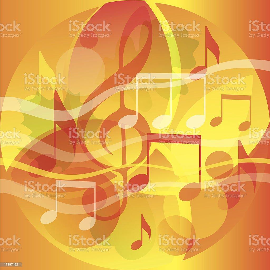 Аutumn, music, school, song royalty-free stock vector art