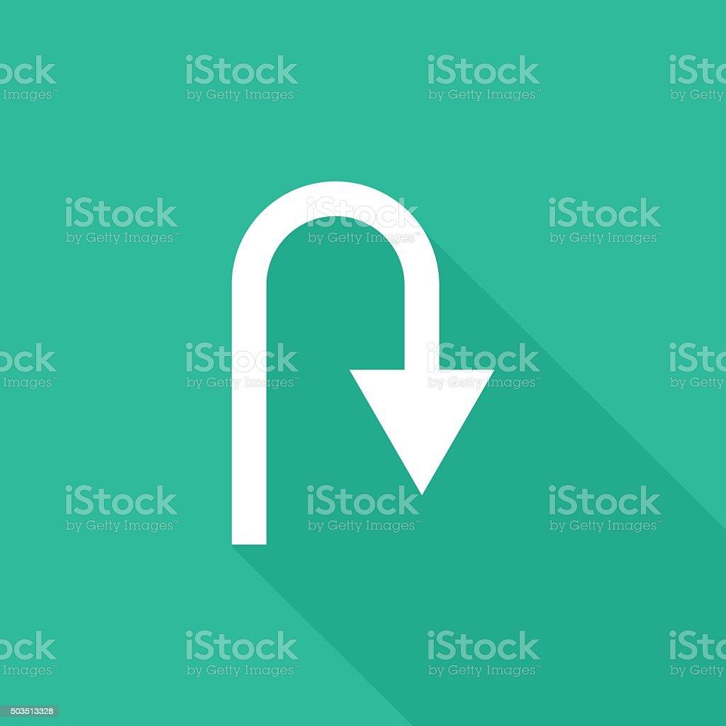 U-Turn icon vector art illustration