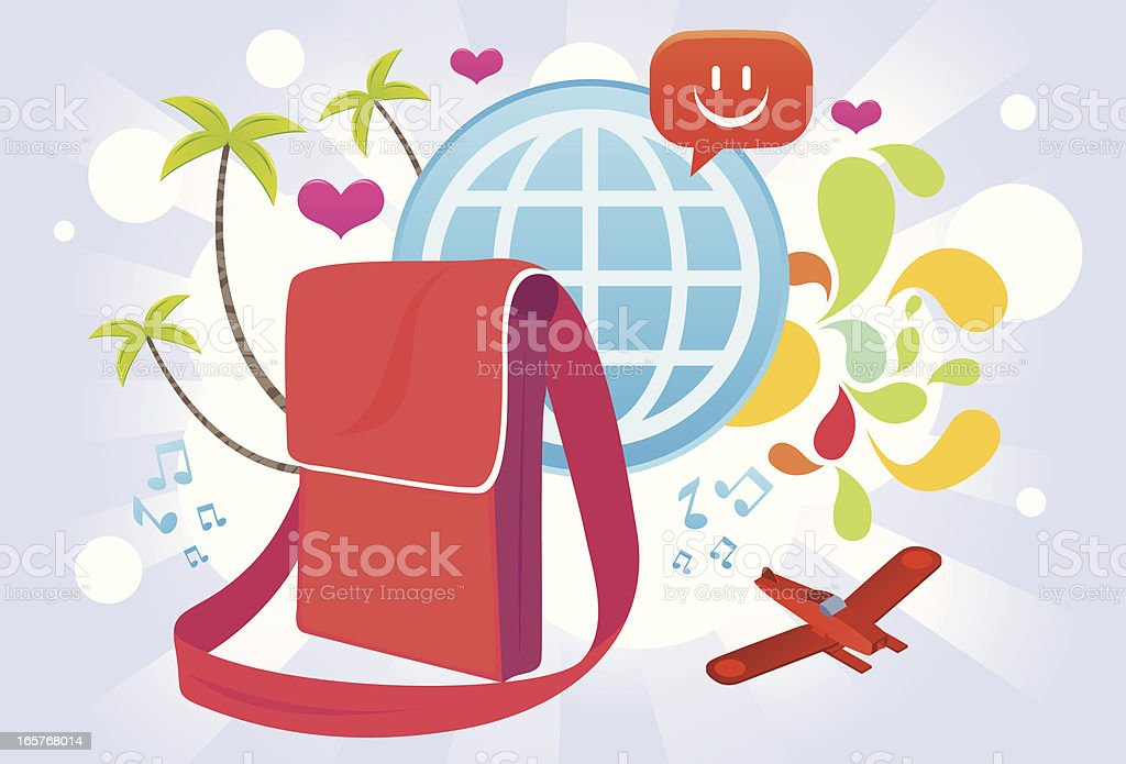 Vacation and Travel graphics royalty-free stock vector art