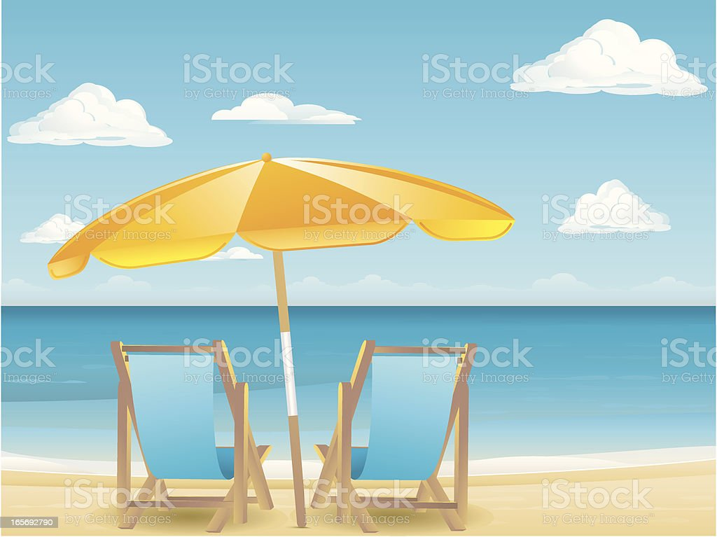 Vacation Chairs royalty-free stock vector art