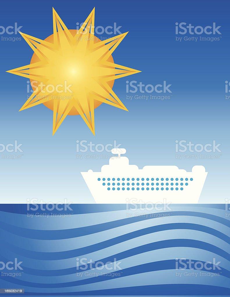 vacation cruiser royalty-free stock vector art