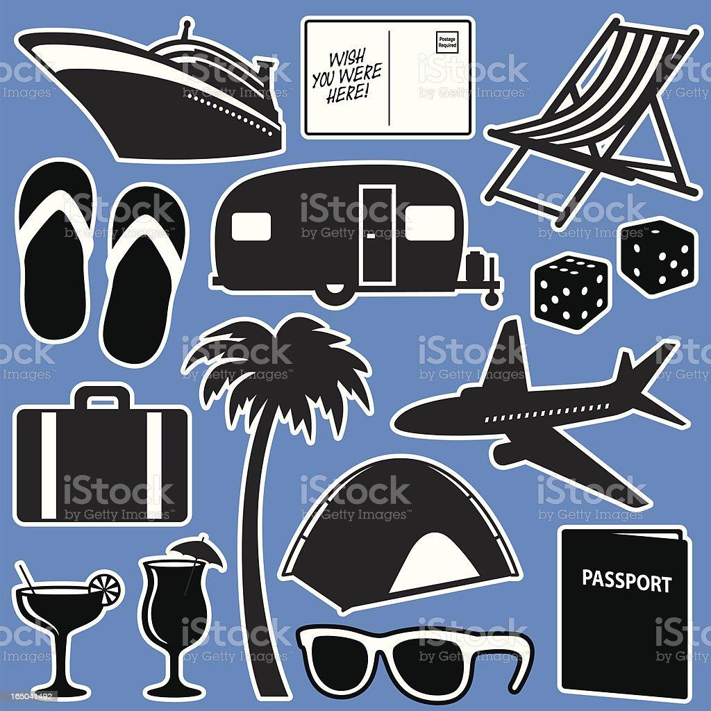 Vacation Elements royalty-free stock vector art