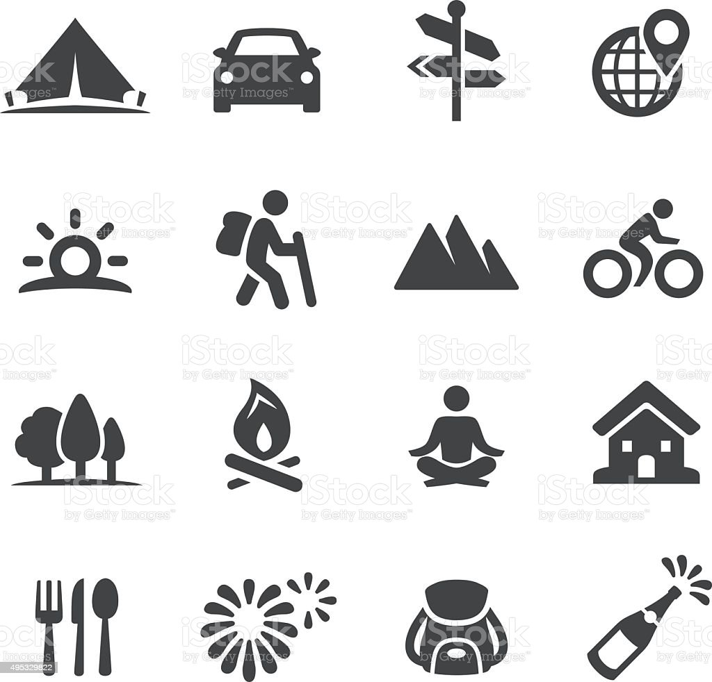 Vacation Icons - Acme Series vector art illustration