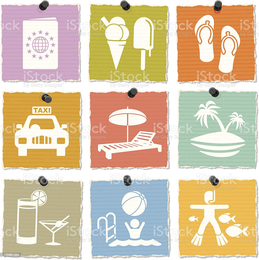 Vacation Icons royalty-free stock vector art