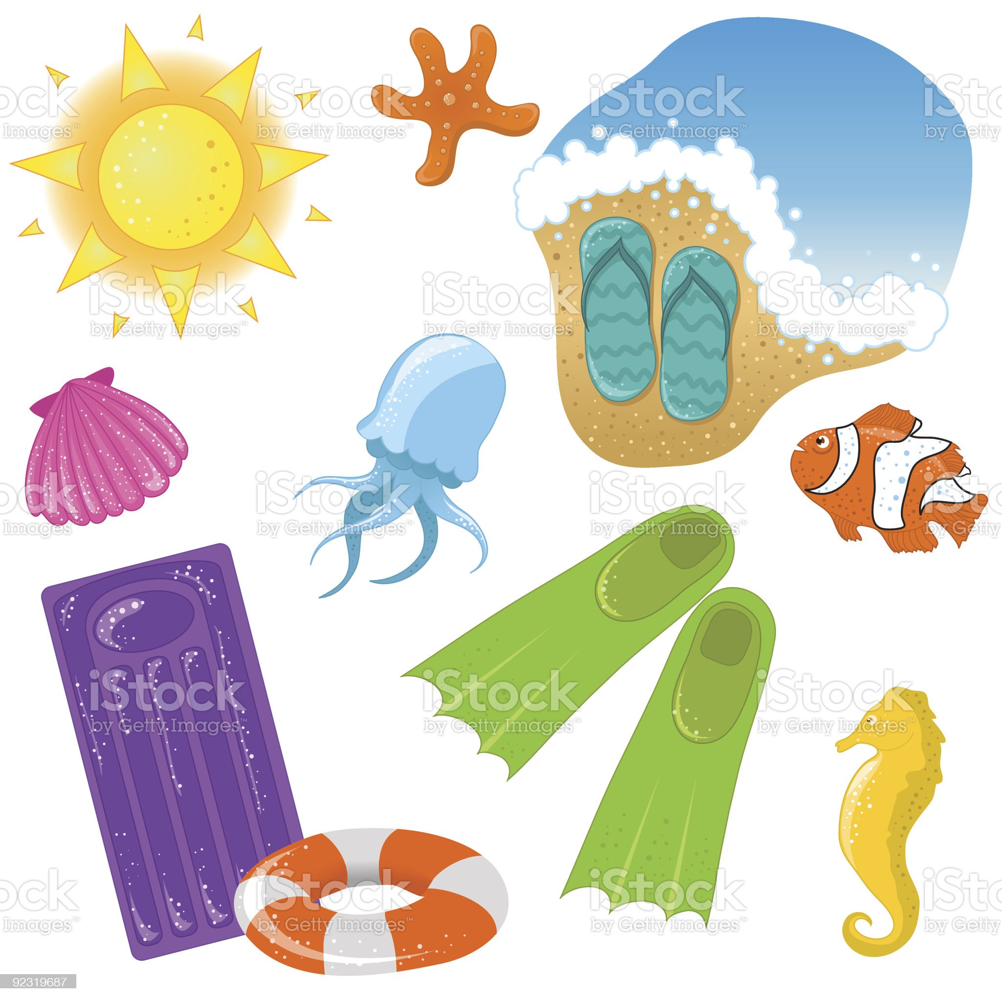 Vacation icons royalty-free stock vector art