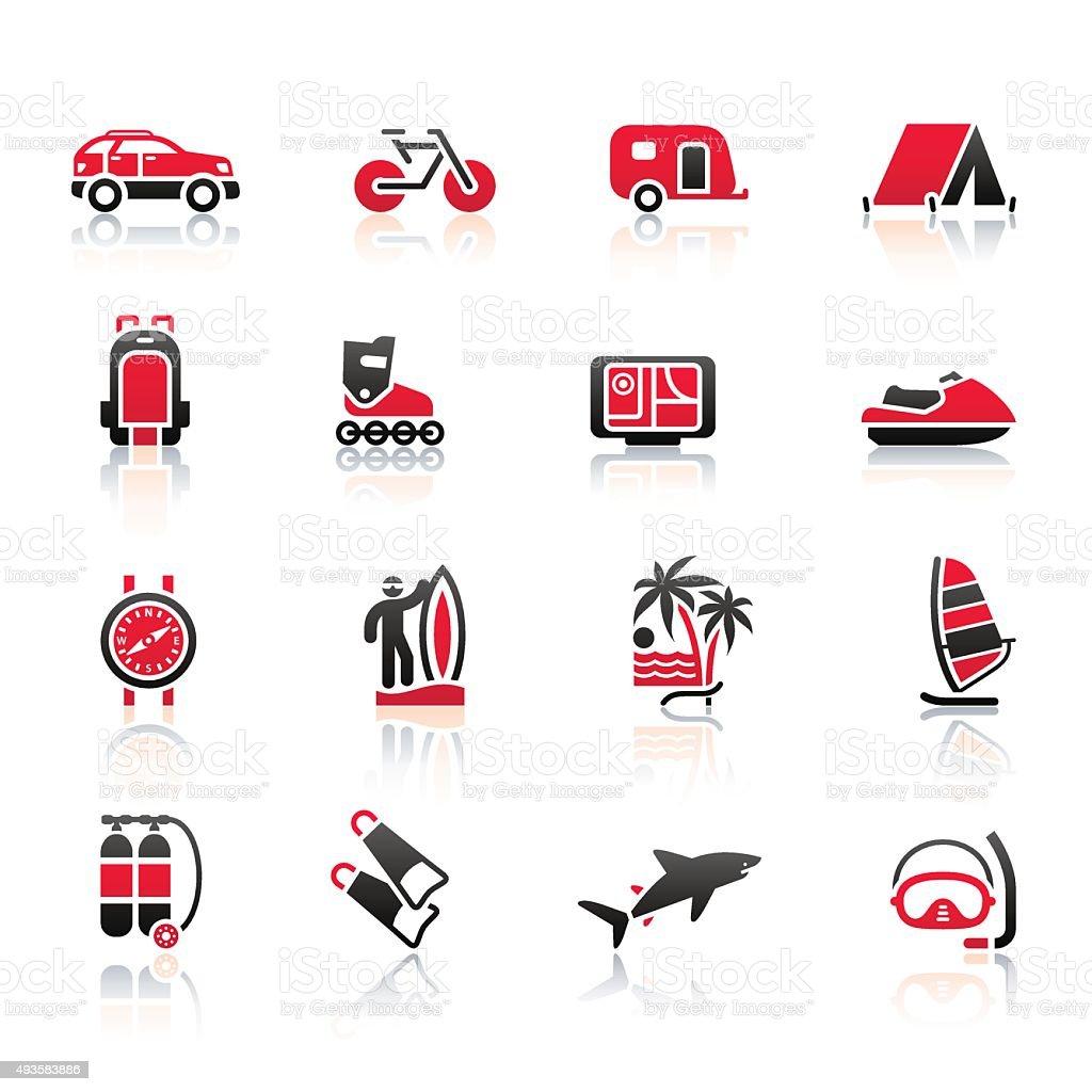 Vacation, Recreation & Travel, icons set векторная иллюстрация