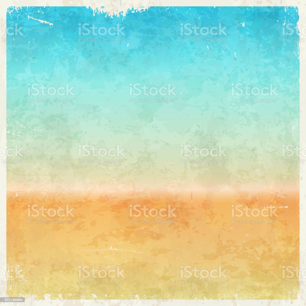 Vacation themed grungy background vector art illustration
