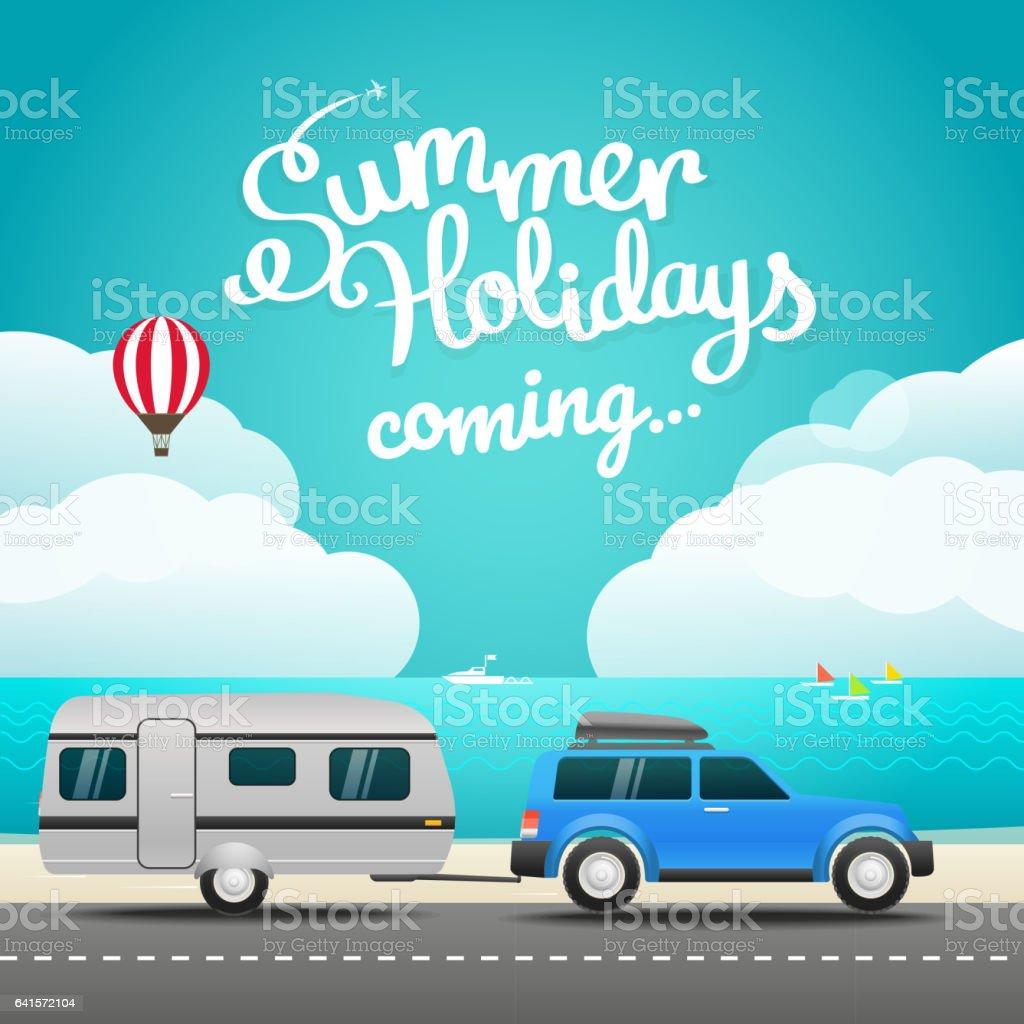 Vacation travelling concept vector art illustration
