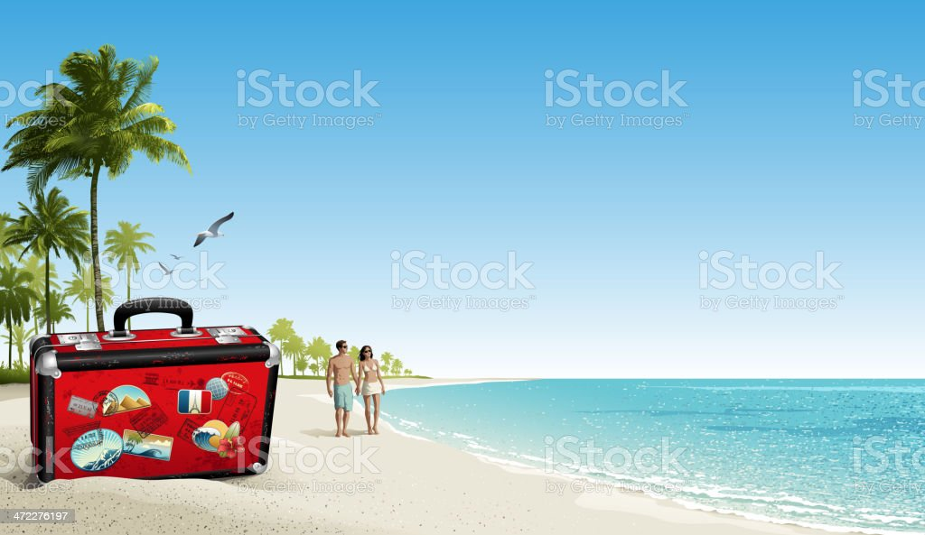 Vacation royalty-free stock vector art