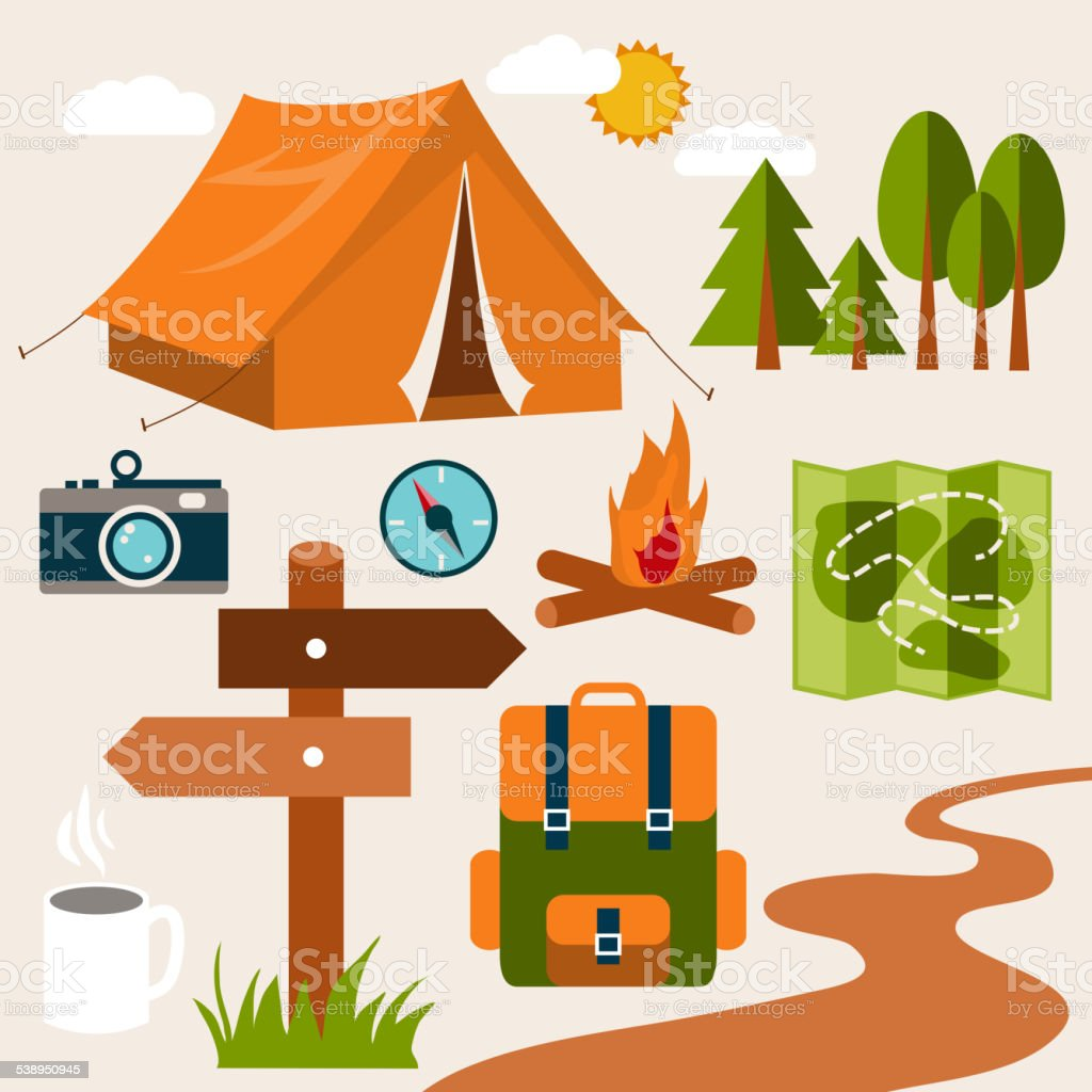 Vacation vector art illustration