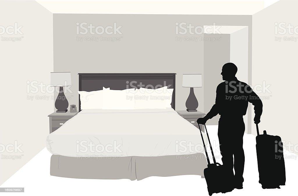 Vacation Vector Silhouette vector art illustration