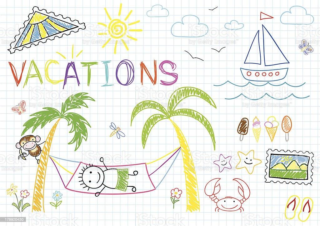 Vacations royalty-free stock vector art