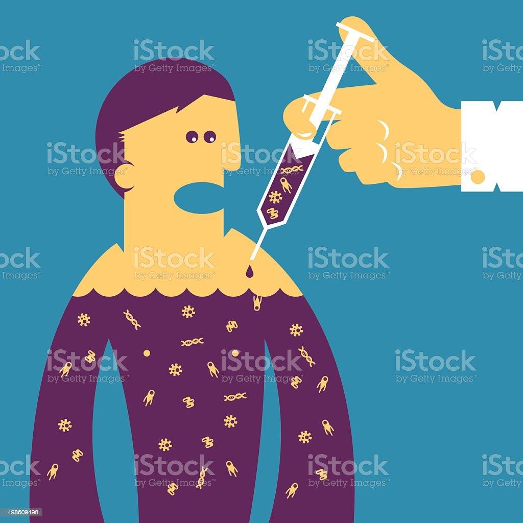 Vaccine - concept illustration vector art illustration