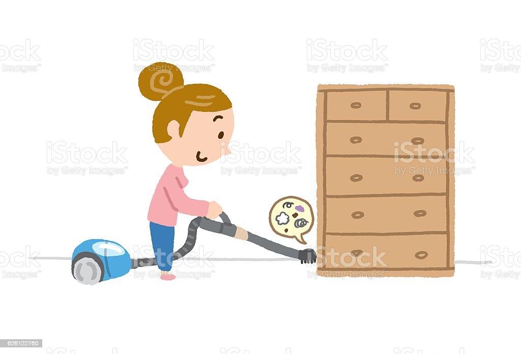 vacuum cleaner chest vector art illustration