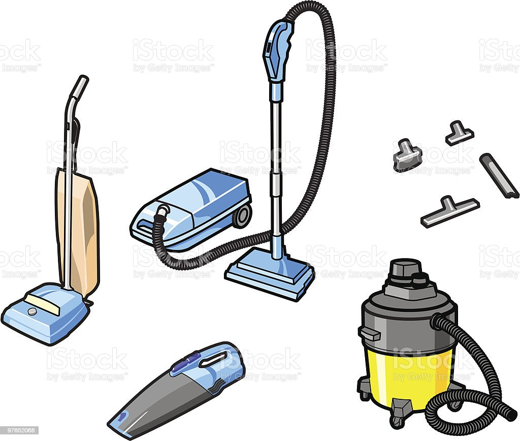 Vacuum Cleaners royalty-free stock vector art