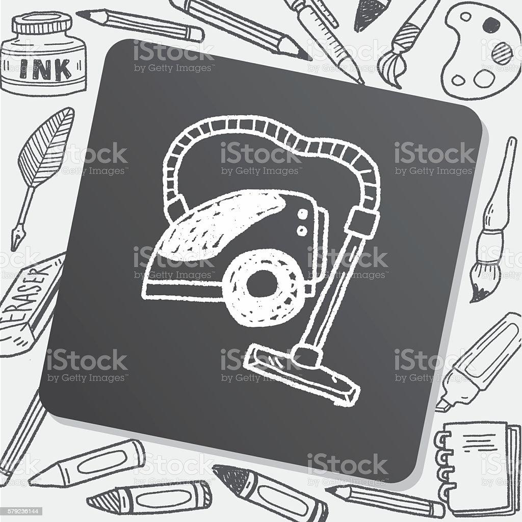 vacuum doodle vector art illustration