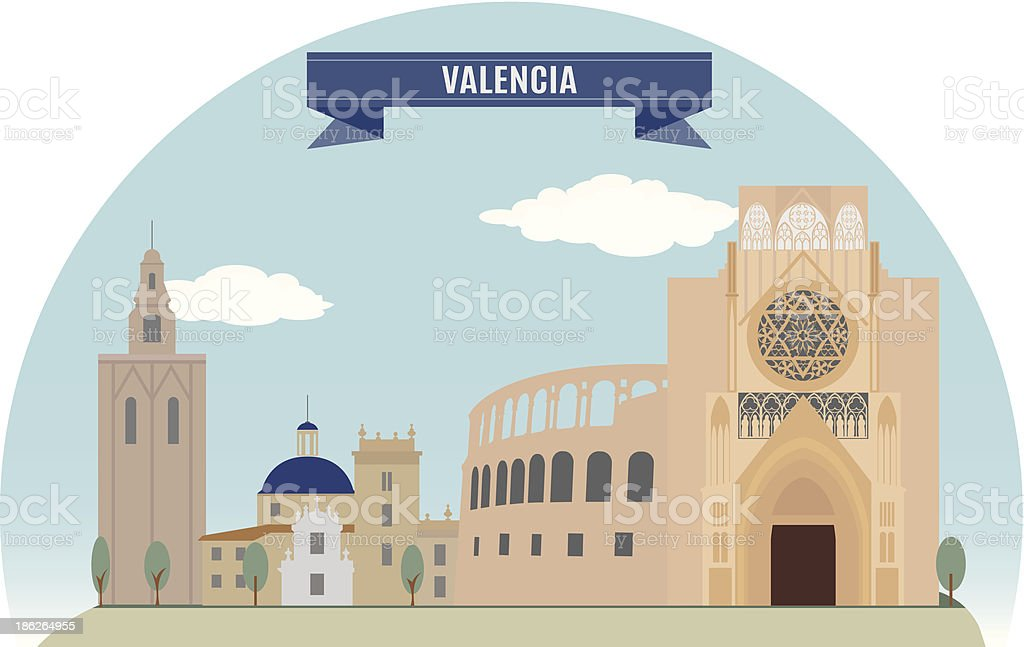 Valencia vector art illustration