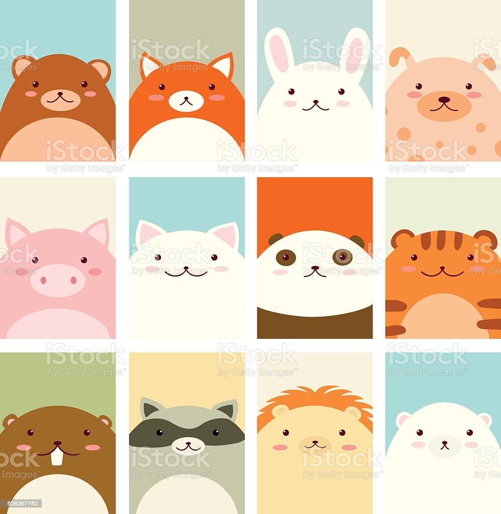 Cute Animals Illustrations By