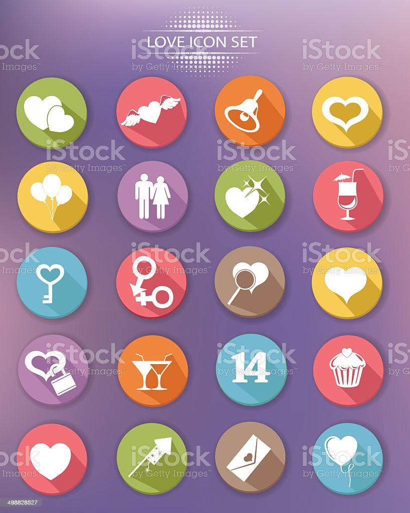 Valentine buttons,Colorful version,vector royalty-free stock vector art
