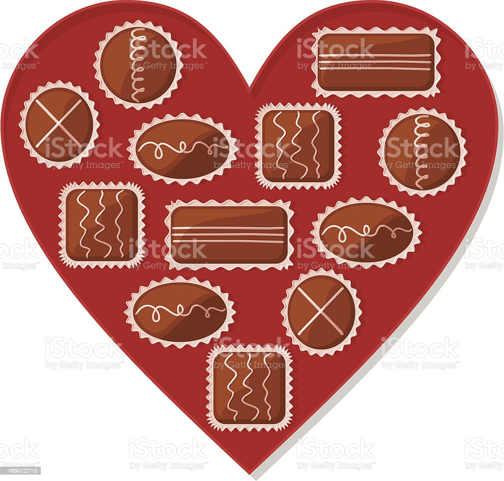 Valentine Chocolates royalty-free stock vector art