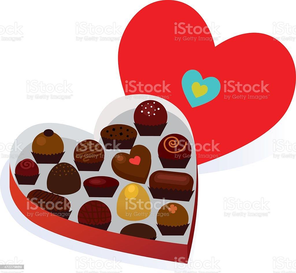 Valentine Chocolates vector art illustration