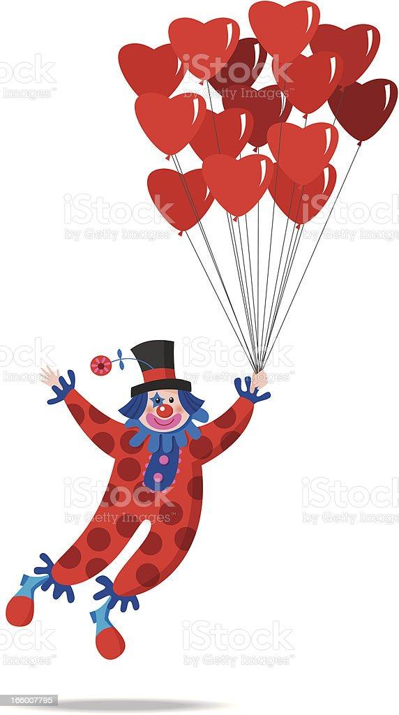 Valentine clown 4 royalty-free stock vector art