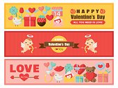 Valentine colorful card set