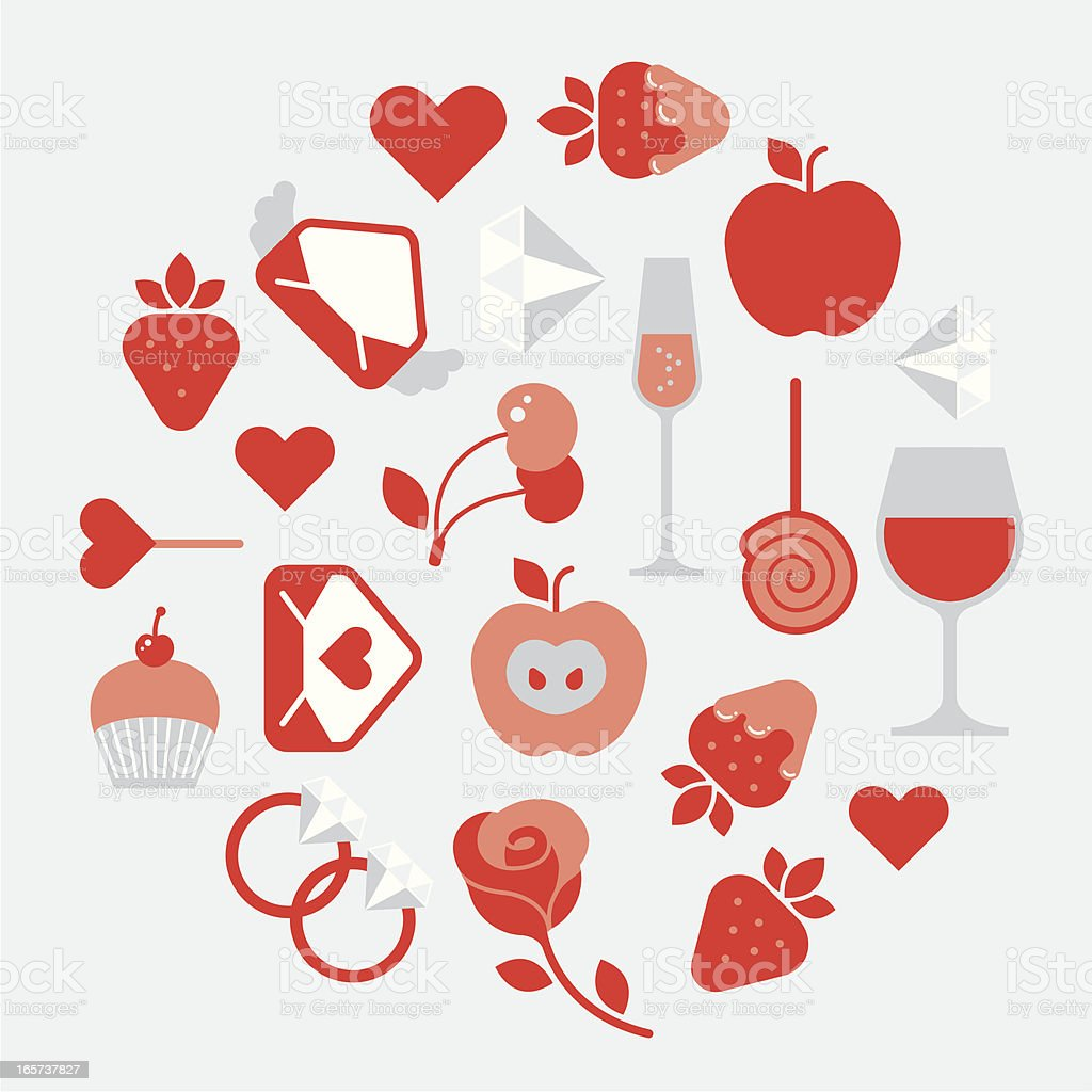 Valentine day composition royalty-free stock vector art