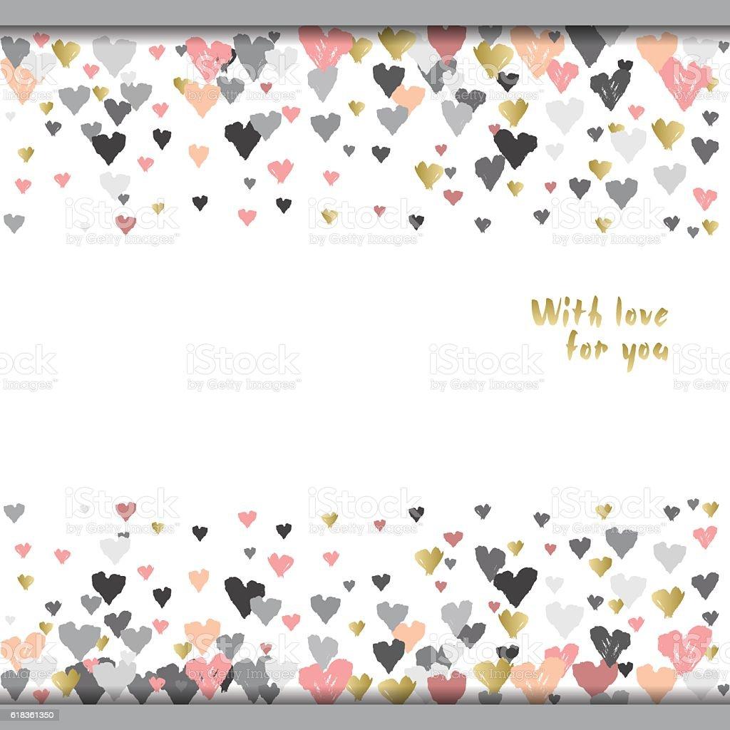 Valentine day design vector art illustration