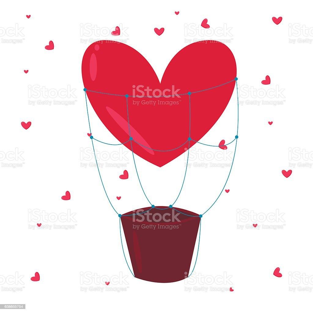Valentine Day greeting card vector illustration vector art illustration