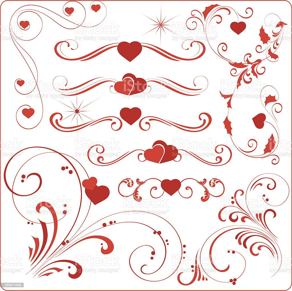 Valentine elements royalty-free stock vector art