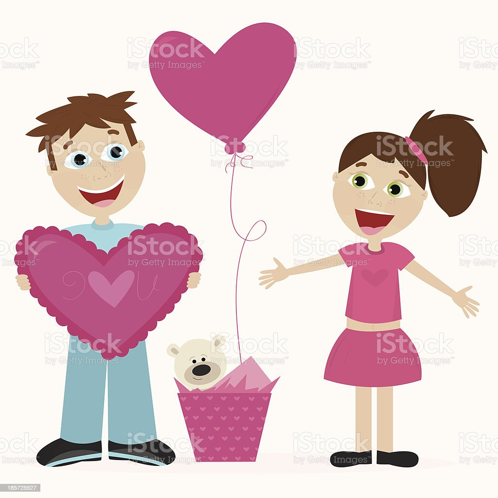 Valentine Gifts royalty-free stock vector art