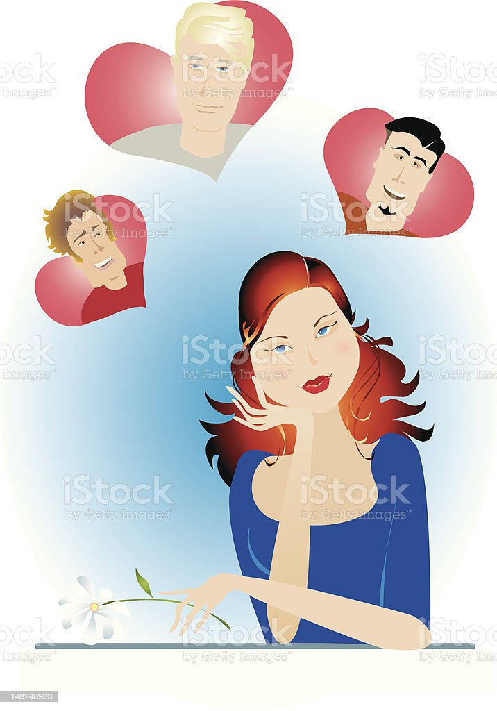 Valentine girl royalty-free stock vector art