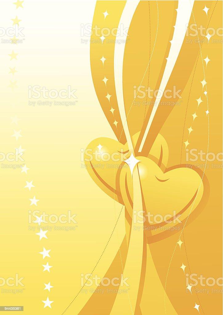 Valentine golden wallpaper royalty-free stock vector art