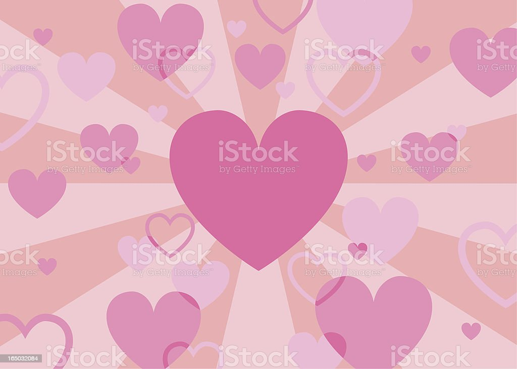 Valentine Heart Burst royalty-free stock vector art