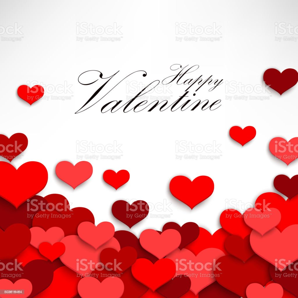 Valentine heart on a white background vector art illustration