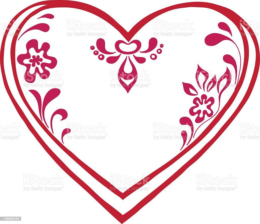 Valentine heart, pictogram royalty-free stock vector art