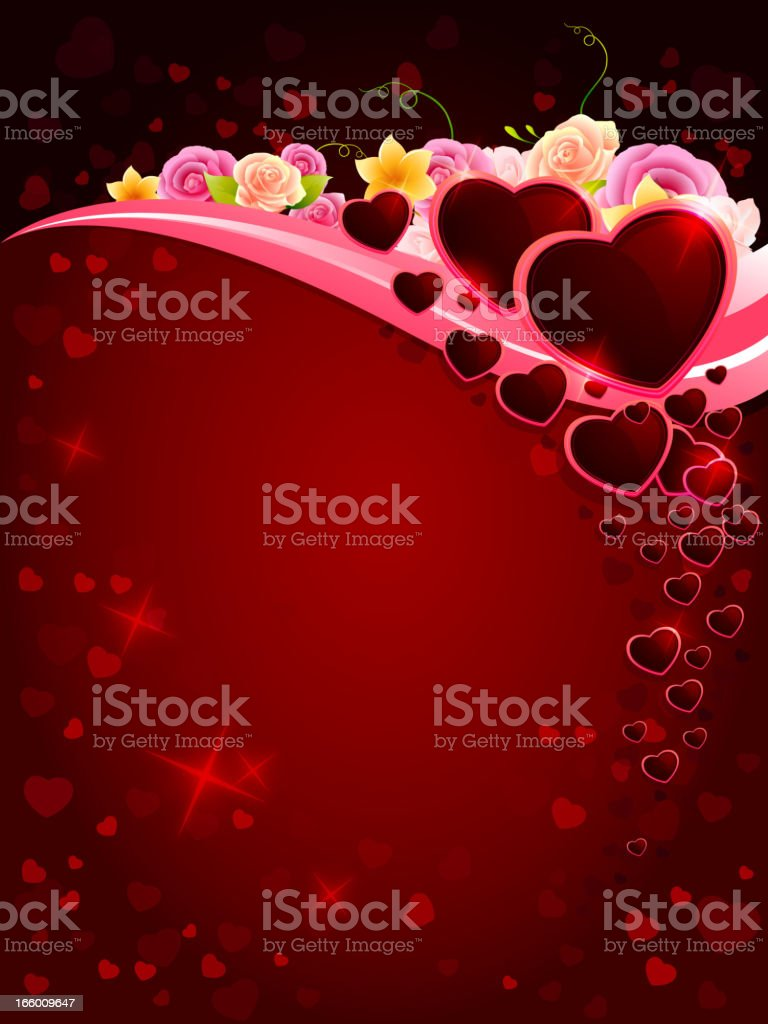 Valentine Hearts Background royalty-free stock vector art