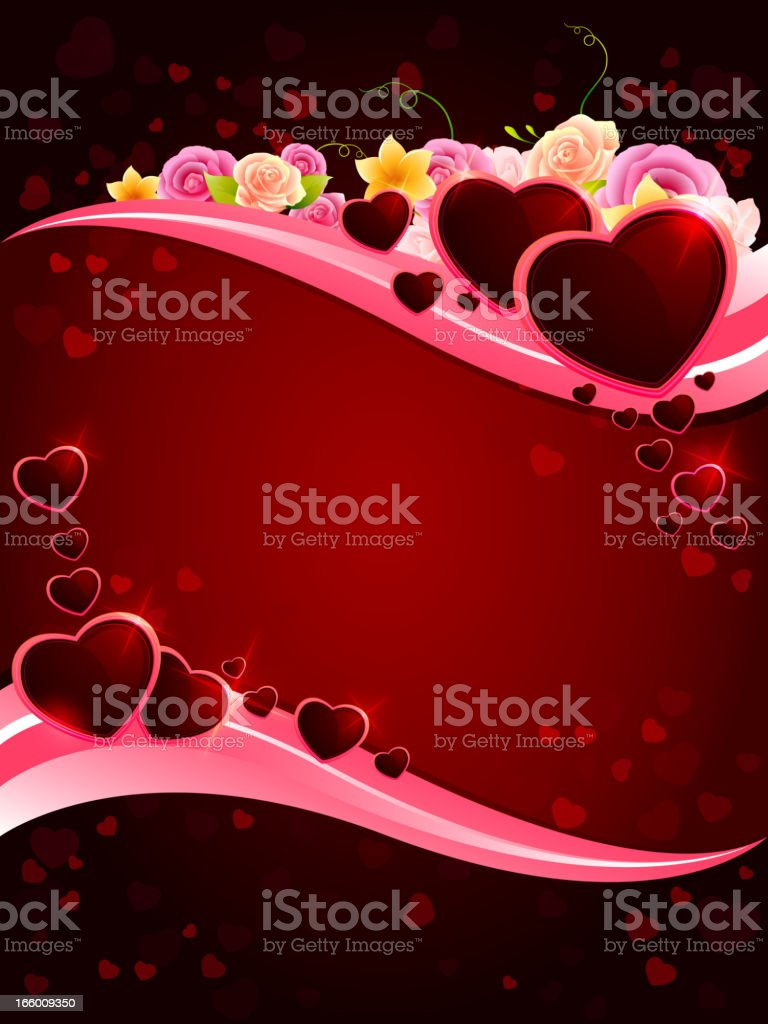 Valentine Hearts Banner royalty-free stock vector art