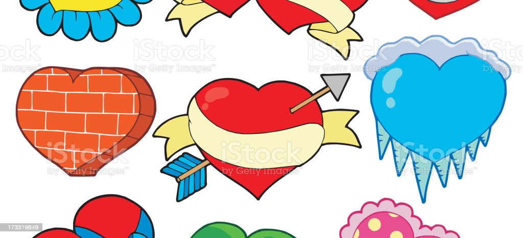 Valentine hearts collection 2 royalty-free stock vector art