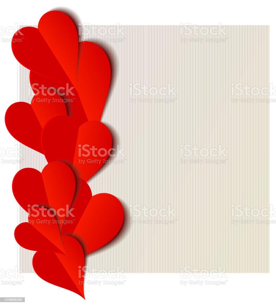 Diseño de corazones de San Valentín tarjeta de abertura illustracion libre de derechos libre de derechos