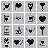 Valentine icon set vector illustration